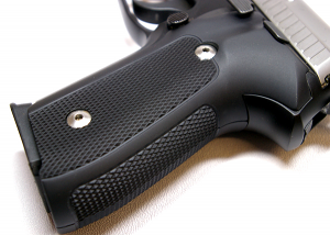Hogue Extreme Aluminum Grips P228, P229 - CHECKERED MATTE BLACK