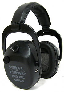 Pro-Ears Electronic Ear Muffs - PRO TAC SC GOLD - BLACK