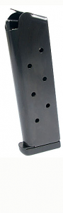 Check-Mate .45ACP, 8RD, Blue, CMF, Removable Base  - Full Size 1911 Magazine