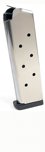 Check-Mate .45ACP, 8RD, SS, CMF, Removable Base  - Full Size 1911 Magazine