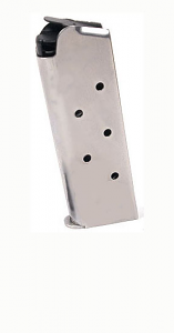 Check-Mate .45ACP, 7RD Compact, SS - Officer's Size 1911 Magazine