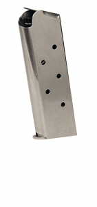Check-Mate .45ACP, 6RD Compact, SS, Hybrid - Officer's Size 1911 Magazine