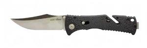 SOG Trident Satin Straight Edge Knife