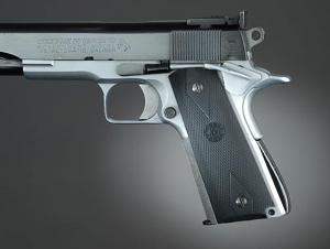 Hogue Rubber Checkered Reproduction Grips 1911 GOVT