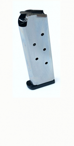 Check-Mate .45ACP, 7RD, SS, Hybrid, Removable Base - Full Size 1911 Magazine