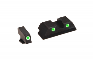 Ameriglo Tritium Night Sight Set - CLASSIC - Glock 10mm, .45, .357 - Green/Yellow