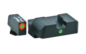 Ameriglo Tritium Night Sight Set - Pro i-Dot - Glock 9mm, .40, .357, .45 G.A.P. - Green/Green (orange outline)