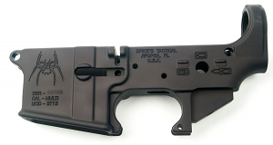 Spikes Tactical AR-15 5.56mm Lower Receiver - Spider - STRIPPED