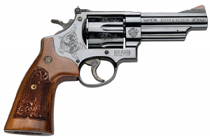 Smith & Wesson Model 29 Classic Six Shot, 4 inch .44 Magnum - Machine Engraved - Blue -PRESENTATION CASE