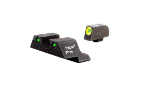 Trijicon HD Night Sight Set - GLOCK 10mm and .45 - YELLOW OUTLINE FRONT