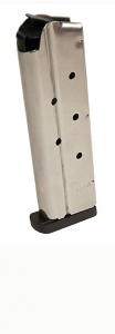 Check-Mate .40SW, 9RD, Stainless Steel, Removable Base - Full Size 1911 Magazine