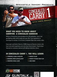 GunTalk - Concealed Carry 1 - DVD