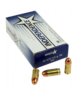 Independence .45ACP 230 GR. FMJ - 50RD