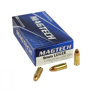 Magtech 9mm Luger 115 GR. FMJ - 50RD