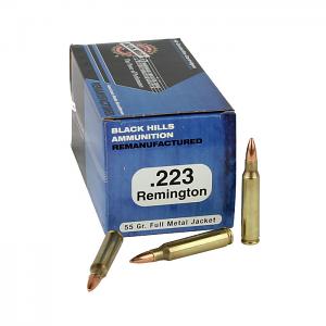 Black Hills .223 55 GR. FMJ - Remanufactured - 50RD