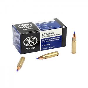 FNH SS197 SR 5.7x28mm 40GR V-Max Bullet - 50RD