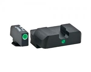 Ameriglo Tritium Night Sight Set - i-Dot - Glock 10mm, .45, .357 - Green/Green