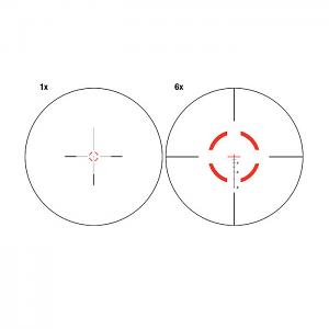 Red Segmented Circle/Crosshair