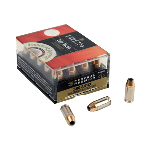 Federal Premium .380 Auto 90 GR. Hydra-Shok JHP - Low Recoil - 20RD