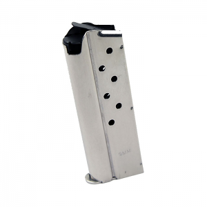 Check-Mate 9mm, 8RD, Stainless Steel - Officer's Size 1911 Magazine