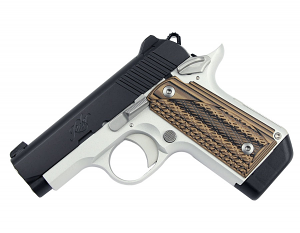 Kimber Micro Carry Advocate .380ACP - Brown G10 Grips