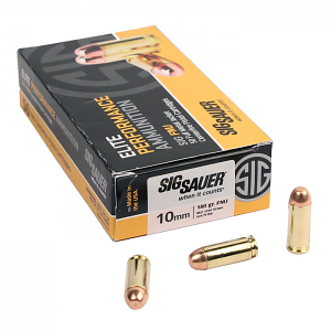 Sig Sauer 10mm 180 GR. Elite Ball FMJ - 50RD
