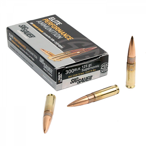 Sig Sauer 300 AAC Blackout 125 GR. Elite Match Grade OTM - 20RD