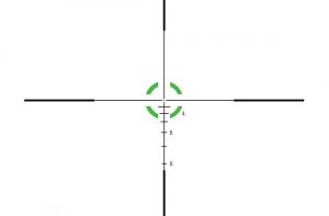 Trijicon AccuPower 1-4X24 30mm W/BDC - Circle/Dot Crosshair W/Green LED