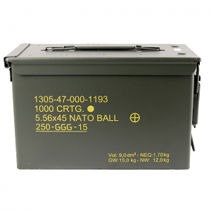 GGG 5.56X45mm GP21 (SS109) NATO Ball - 1000RD Can