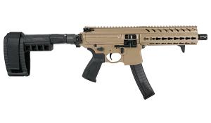 Sig Sauer MPX Pistol W/Stabilizing Brace, Keymod, 9mm - FDE