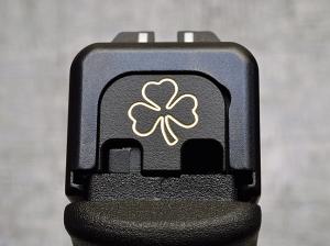 Milspin Custom Back Plate - Standard - Black on Brass