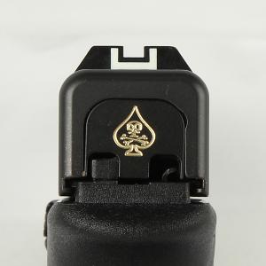 Milspin Custom Back Plate - Death Card - Standard Glock - Brass