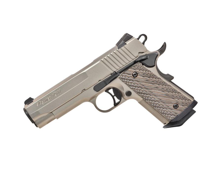 Sig Sauer 1911 Compact, Nickel, .45ACP, Night Sights