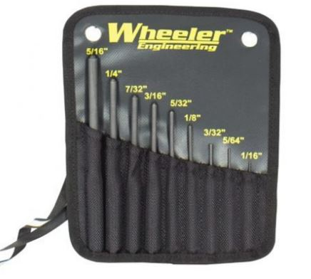 Wheeler Engineering Roll Pin Punch Set - 9 Piece