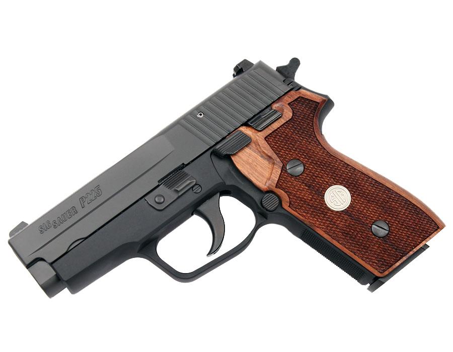 Sig Sauer P225A 9mm, SigLite Night Sights, DA/SA - Wood Grips