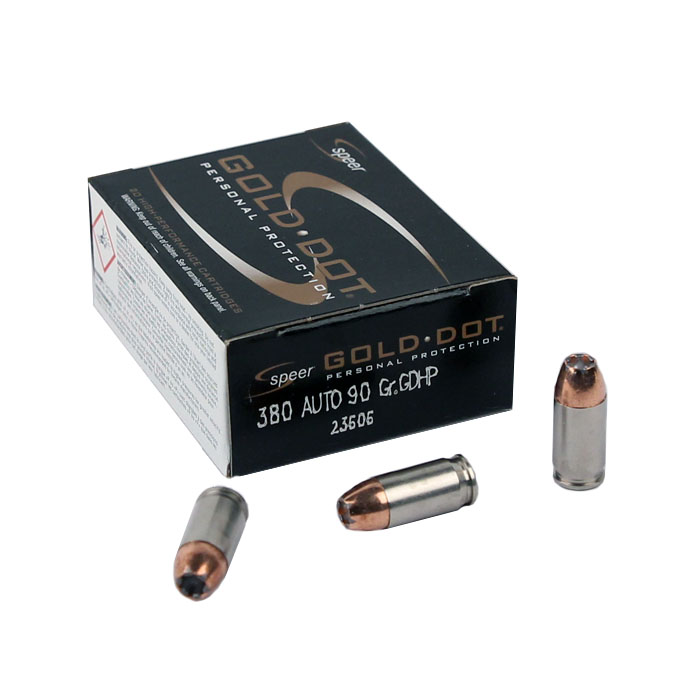 Speer Gold Dot .380 Auto 90 GR. GDHP - 20RD