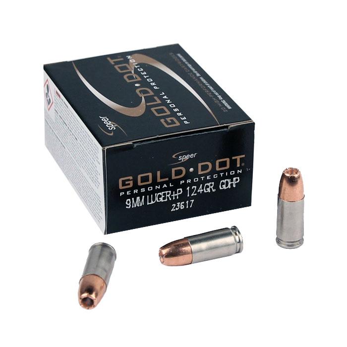 Speer Gold Dot 9mm Luger +P 124 GR. GDHP - 20RD