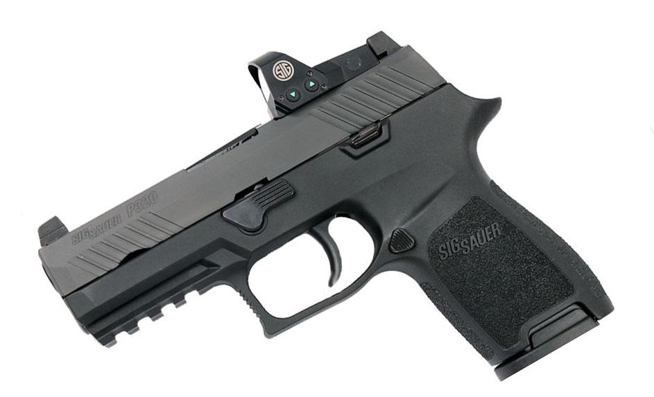 Sig Sauer P320 Compact RX, 9mm, Nitron, SigLite Night Sights, DAO