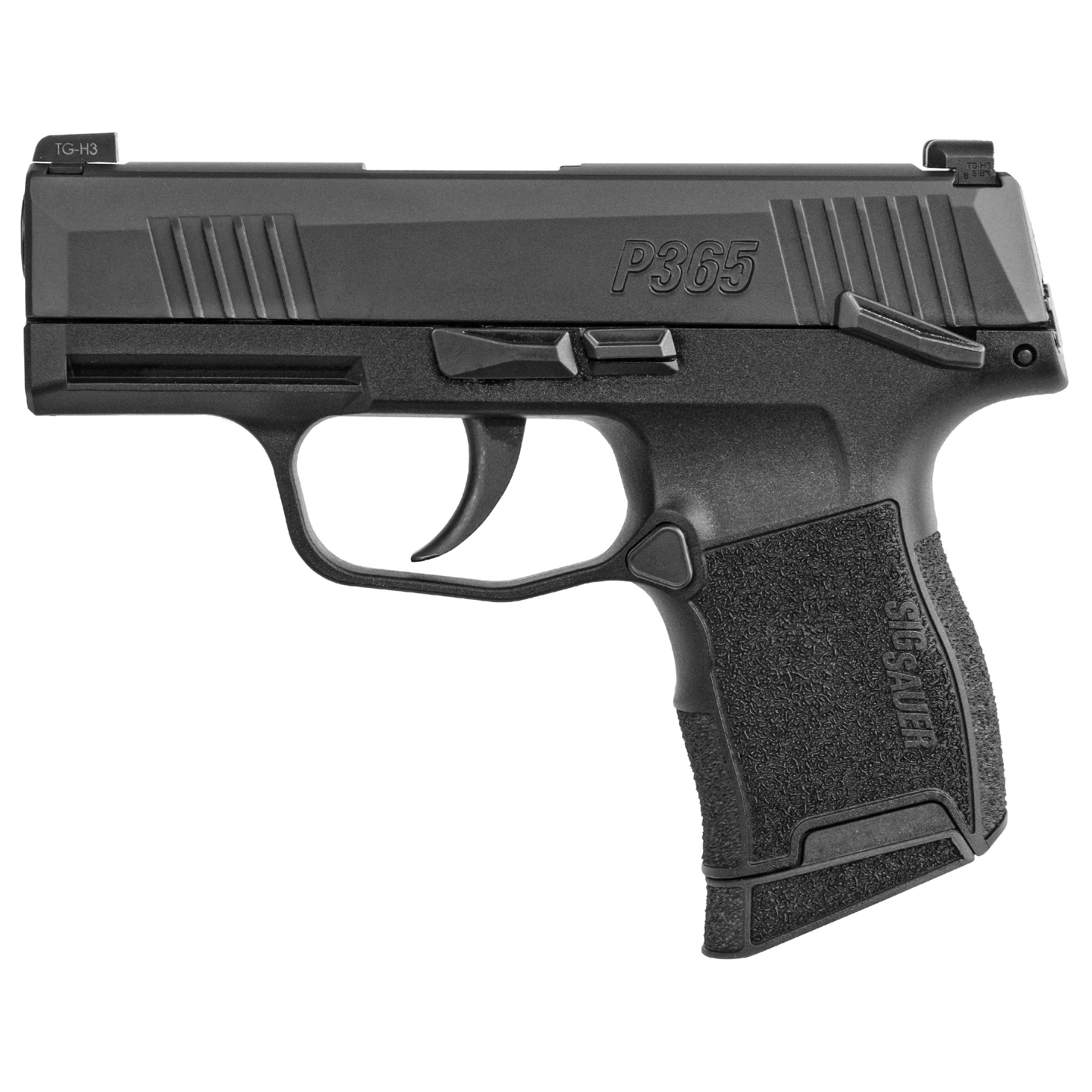 Sig Sauer P365 w/safety 9mm, Night Sights, Nitron, Micro-Compact - IOP