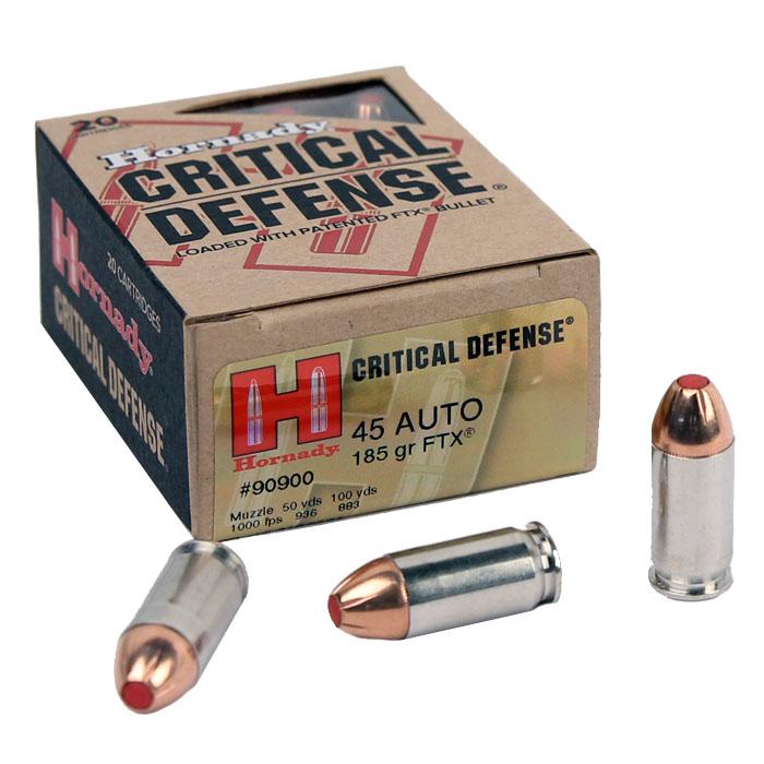 Hornady .45ACP 185 GR. FTX Critical Defense - 20RD