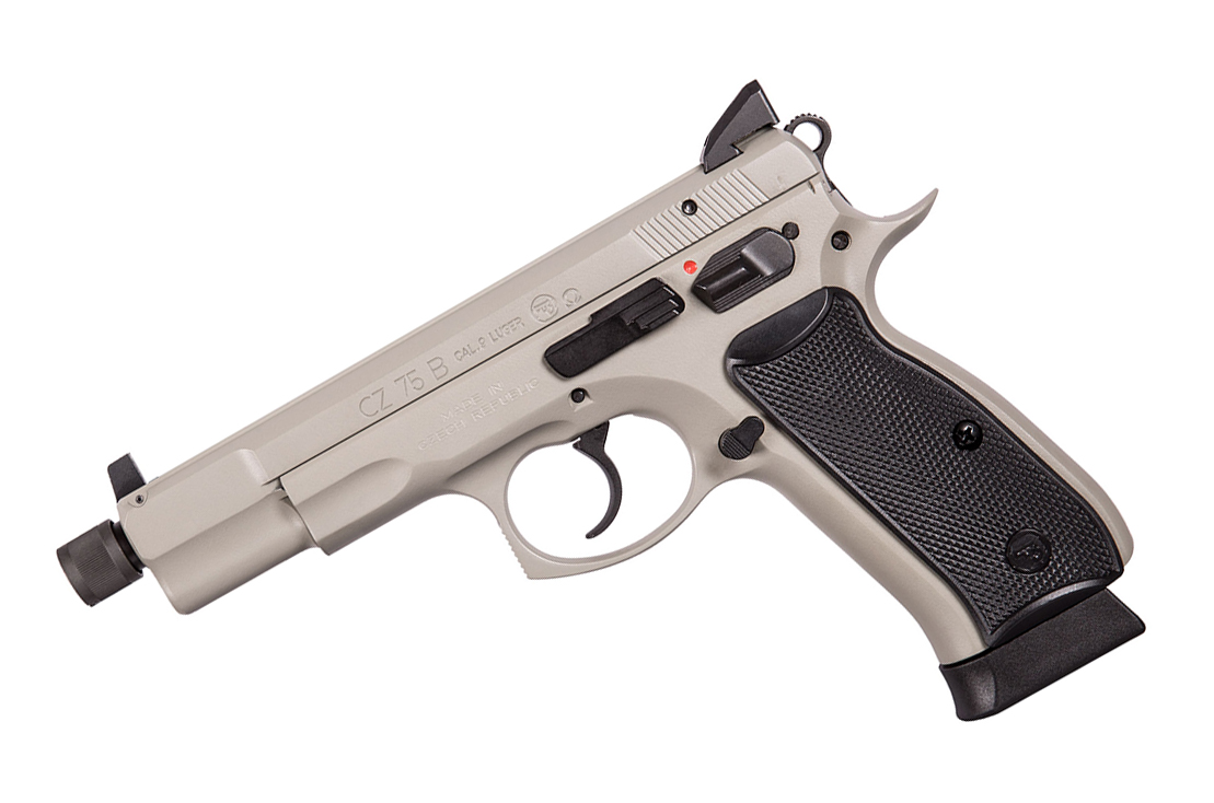 CZ-75B Omega Urban Grey Suppressor Ready, Night Sights, 9mm