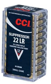 CCI Suppressor .22LR 45GR HP - 50RD