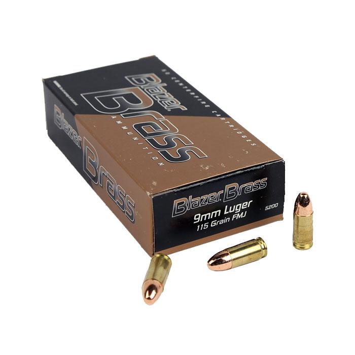 CCI Blazer Brass 9mm Luger 115 GR. FMJ - 50RD