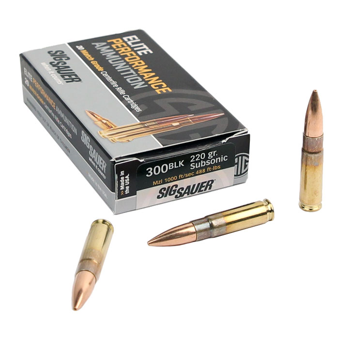 Sig Sauer 300 AAC Blackout 220 GR. Elite Match Grade OTM - 20RD