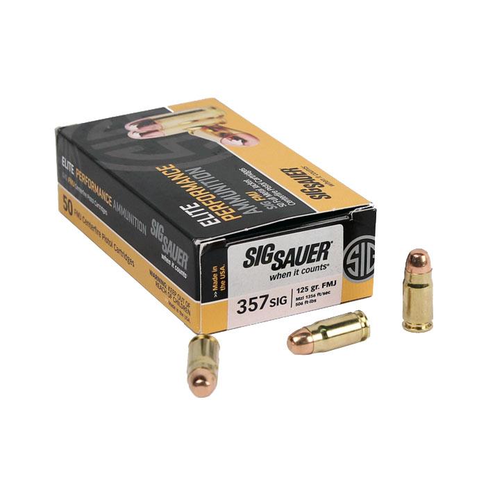 Sig Sauer .357SIG 125 GR. Elite Ball FMJ - 50RD Box