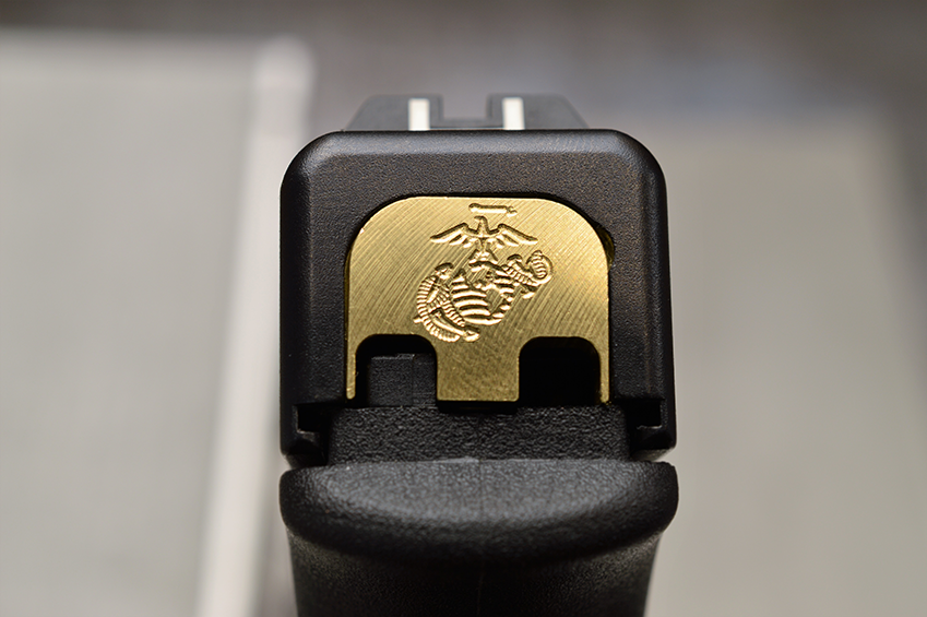 Milspin Custom Brass Back Plate For Glock Pistols