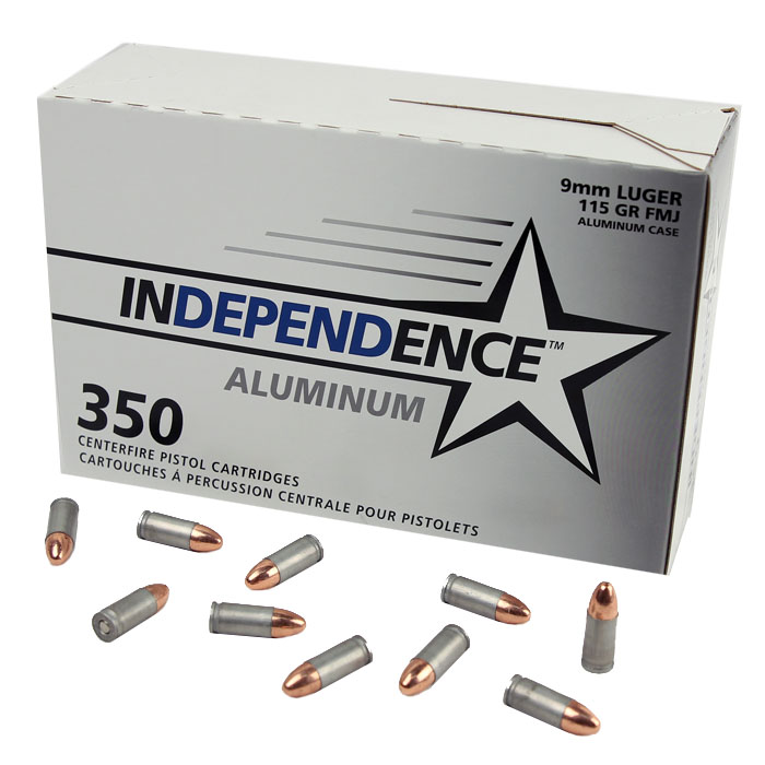 Independence 9mm Luger 115 GR. FMJ - Aluminum - 350RD