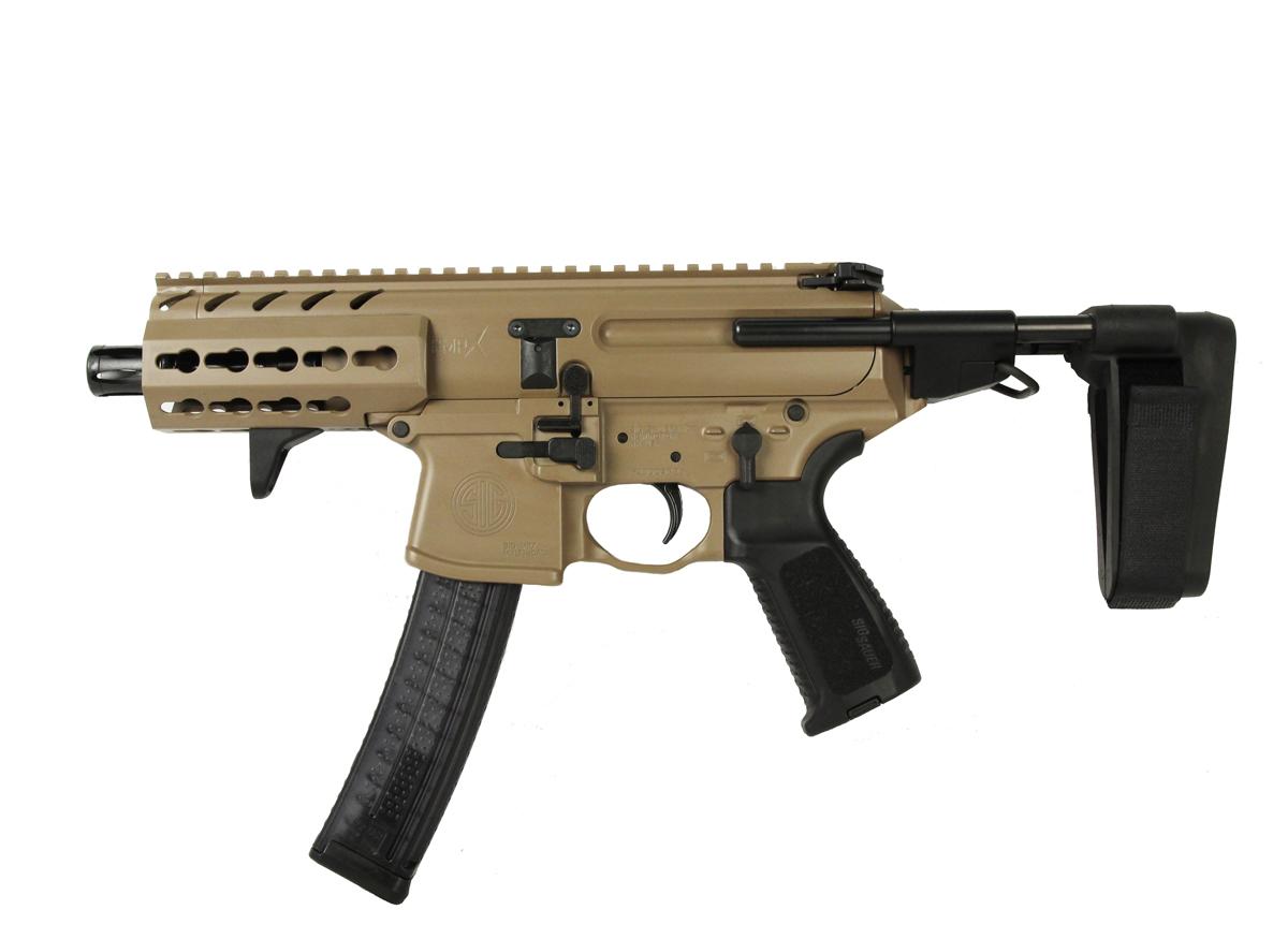 Sig Sauer MPX PDW Pistol W/Stabilizing Brace, Keymod, 9mm, FDE