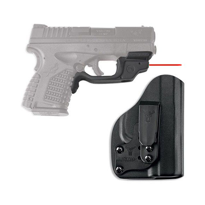 Crimson Trace Laserguard W/Bladetech IWB Holster - Springfield Armory XDS