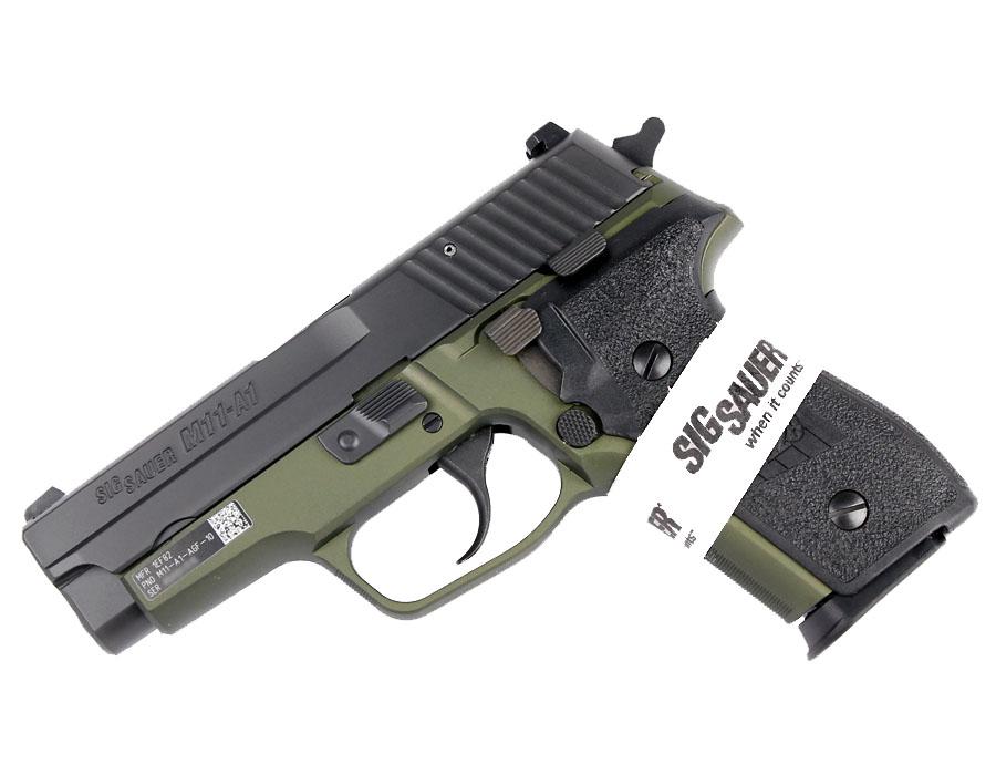 Sig Sauer M11-A1 Army Green 9mm, SigLite Night Sights, DA/SA